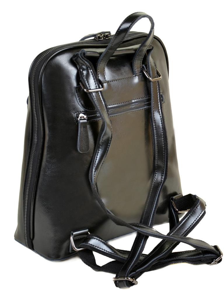 Сумка Женская Рюкзак кожа PODIUM 012-1 8628 black - фото 4