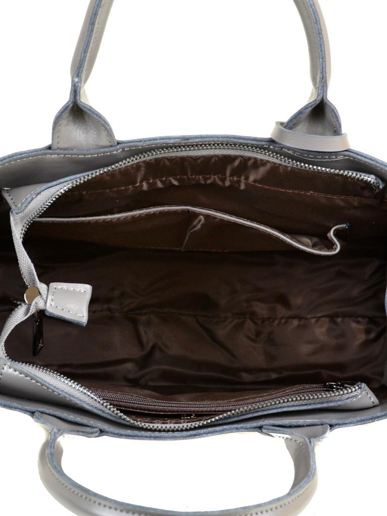 Сумка Женская Классическая кожа PODIUM 012-1 8633 grey - фото 5