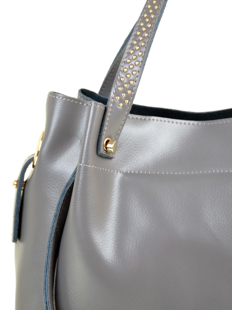 Сумка Женская Классическая кожа PODIUM 012-1 9033 l-grey