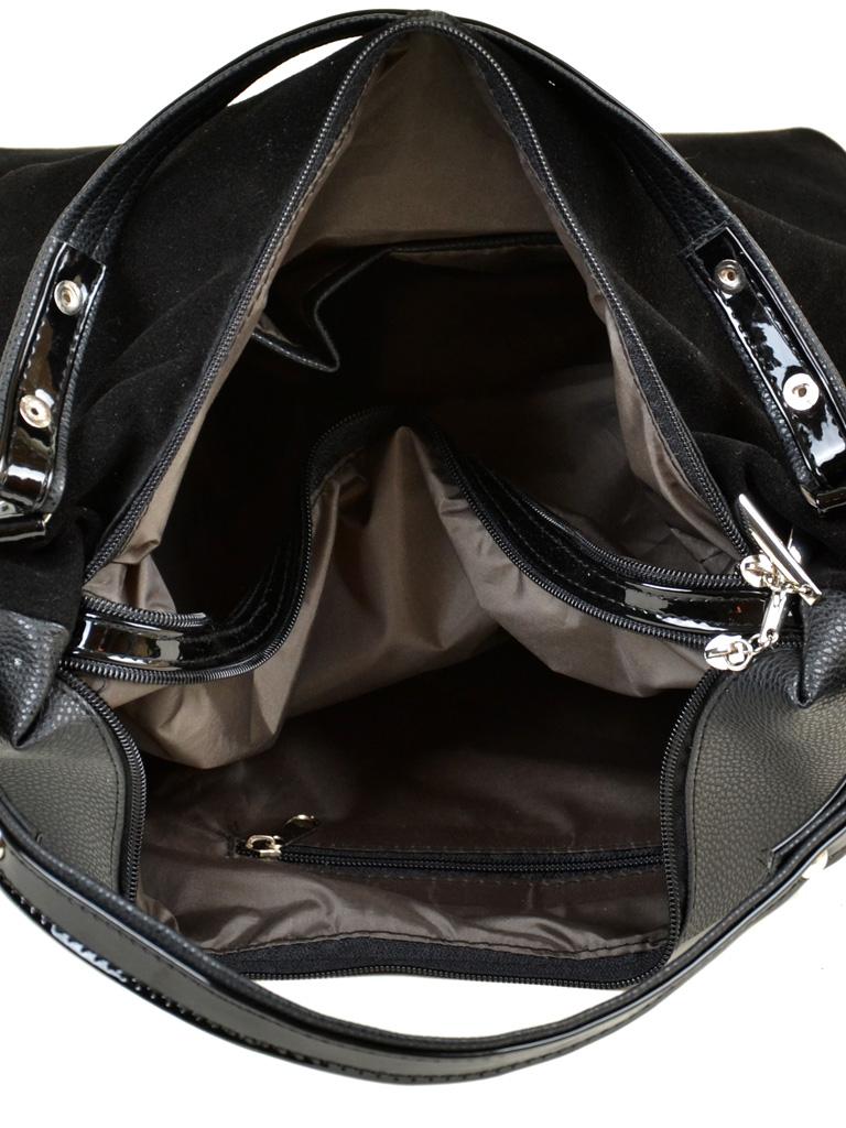 Сумка Женская Классическая иск-кожа М 108 замш 47 black