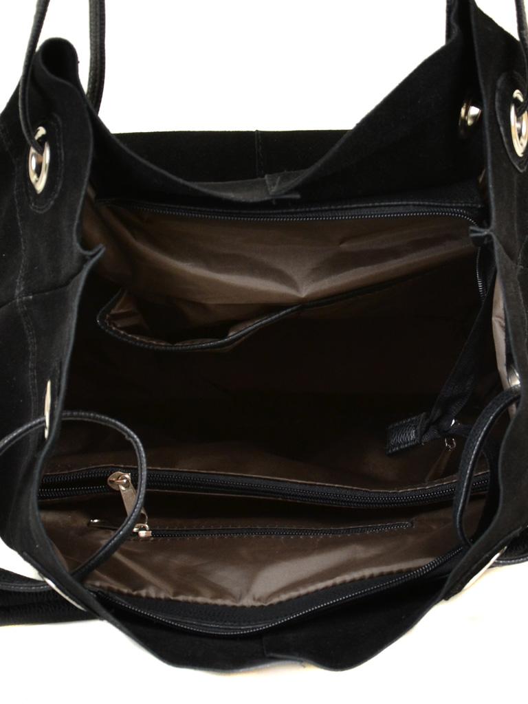 Сумка Женская Классическая иск-кожа М 54 замш 47 black