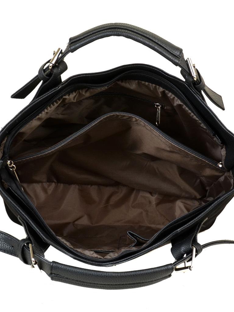 Сумка Женская Классическая иск-кожа М 80 замш 47 black