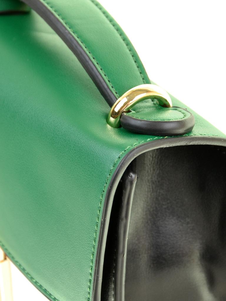 Сумка Женская Клатч иск-кожа PODIUM 6-02 8177 green-black - фото 3