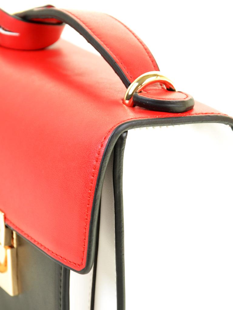 Сумка Женская Клатч иск-кожа PODIUM 6-02 8177 red-white