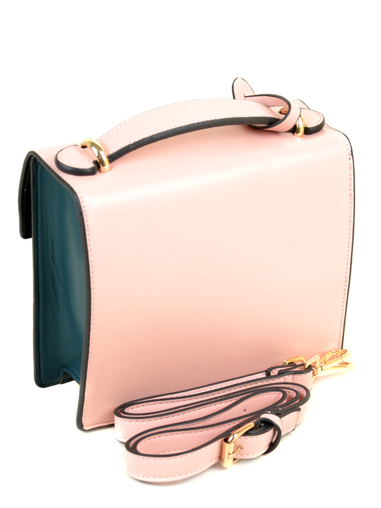 Сумка Женская Клатч иск-кожа PODIUM 6-02 8177 pink-green - фото 4