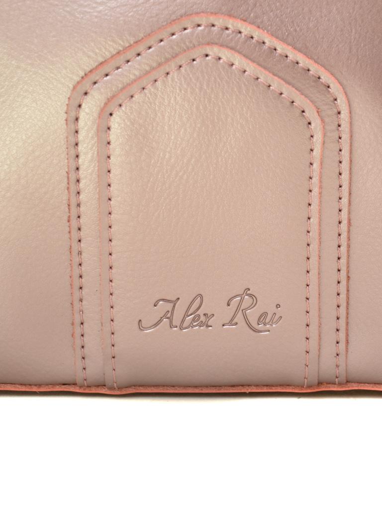 Сумка Женская Классическая кожа ALEX RAI 2-01 8641 pink-gold