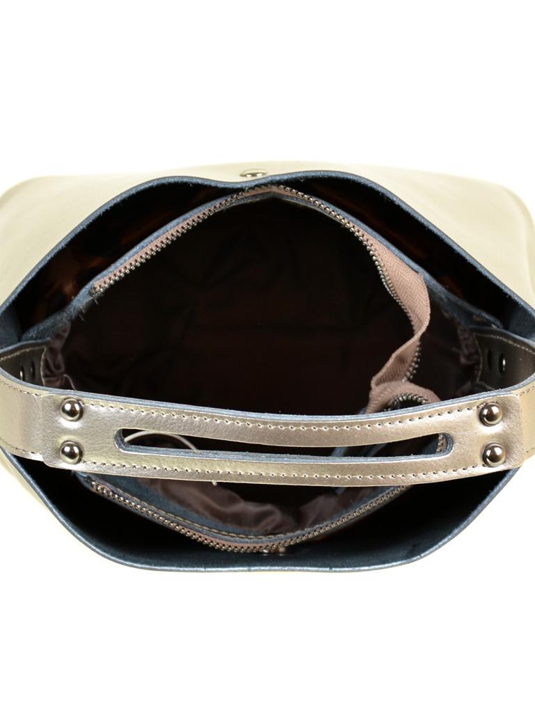 Сумка Женская Классическая кожа ALEX RAI 2-01 8641 silver-grey