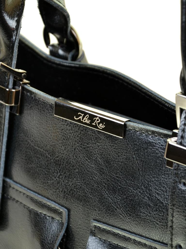 Сумка Женская Классическая кожа ALEX RAI 2-01 8644 black - фото 3