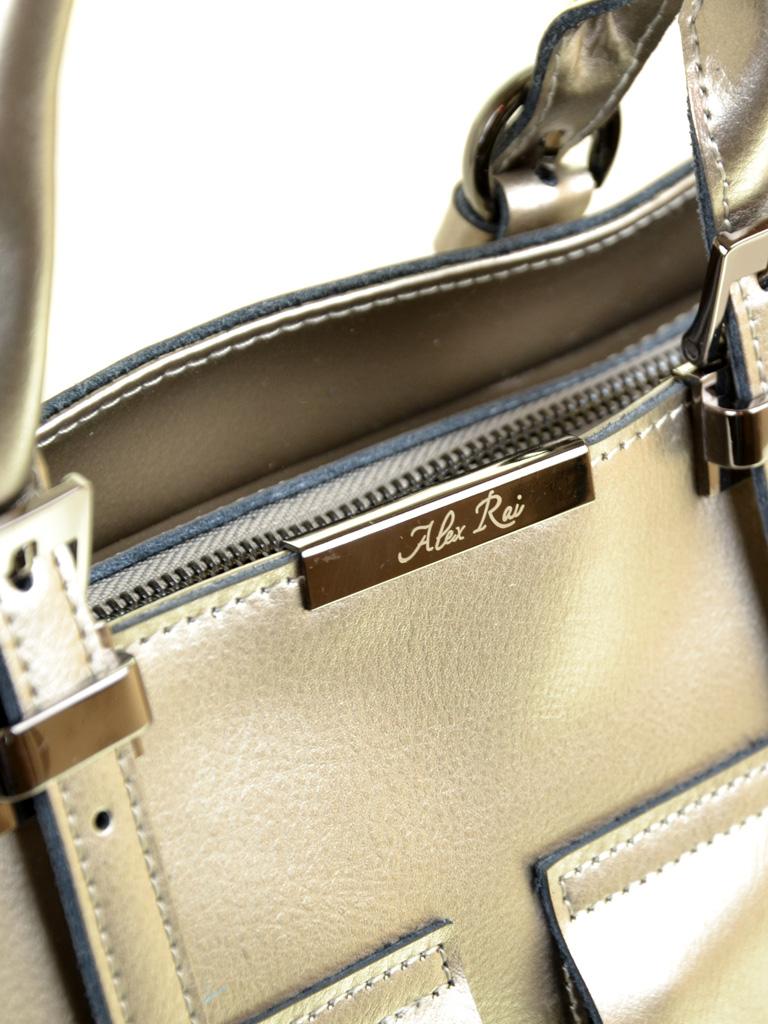 Сумка Женская Классическая кожа ALEX RAI 2-01 8644 silver-grey