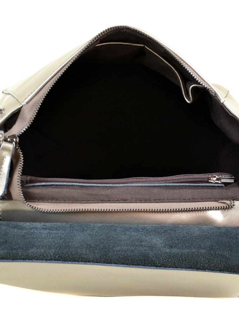 Сумка Женская Рюкзак кожа ALEX RAI 2-01 3206 silver-grey