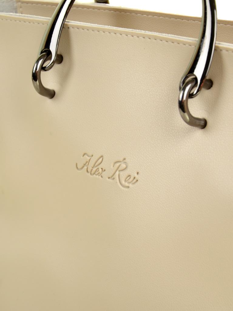 Сумка Женская Классическая иск-кожа ALEX RAI 2-04 1861 beige - фото 3