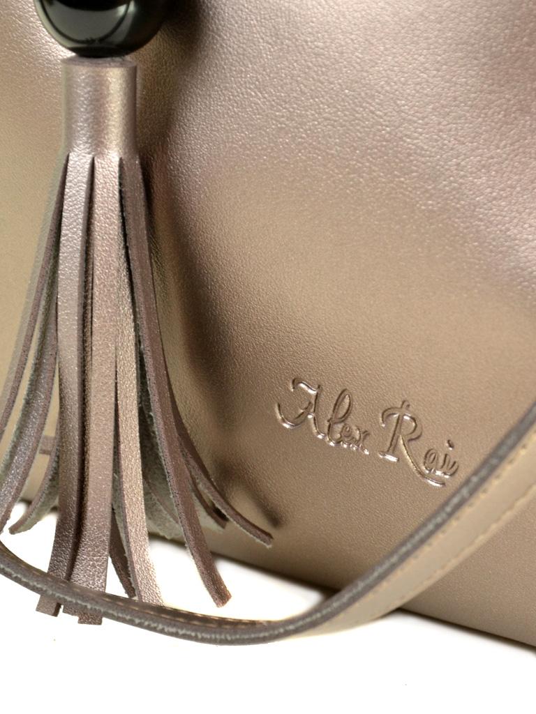 Сумка Женская Классическая иск-кожа ALEX RAI 2-04 3312 grey - фото 3