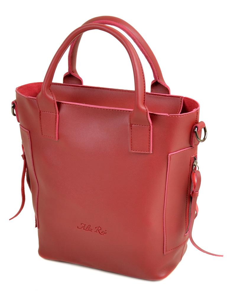 Сумка Женская Классическая иск-кожа ALEX RAI 2-04 5093 deep-red
