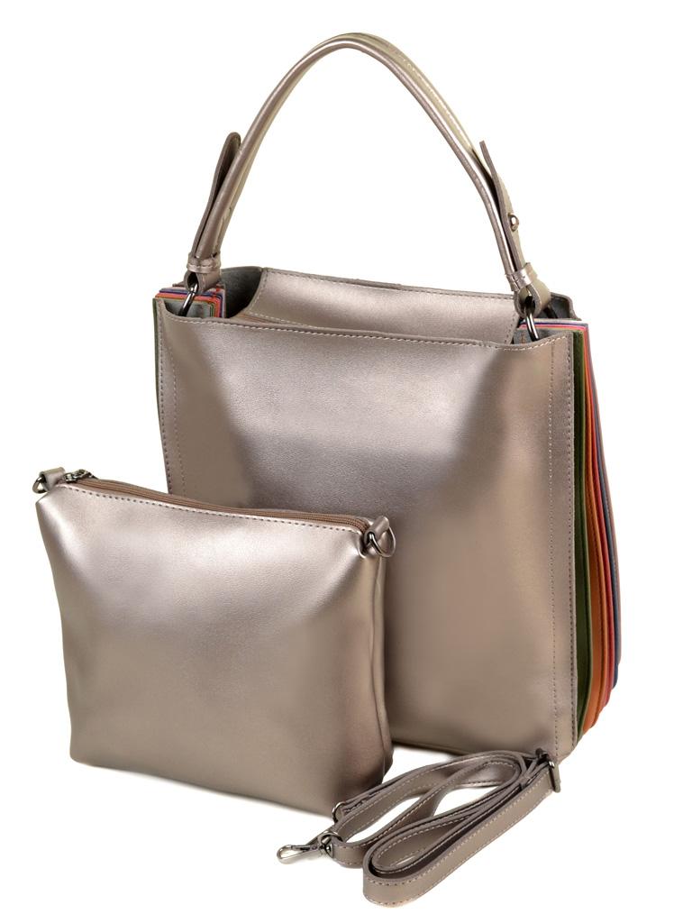 Сумка Женская Классическая иск-кожа ALEX RAI 2-04 5098 bronz