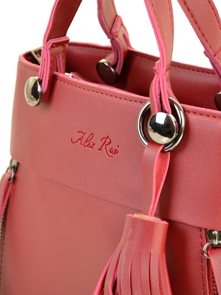 Сумка Женская Классическая иск-кожа ALEX RAI 2-04 8070 red - фото 3