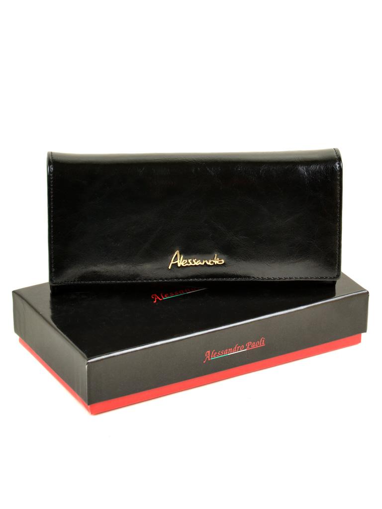Кошелек Canarie кожа ALESSANDRO PAOLI W0807 black