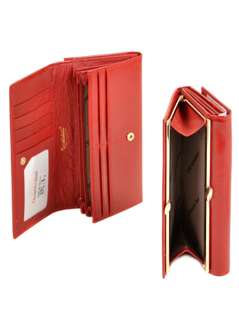 Кошелек Canarie кожа ALESSANDRO PAOLI W1 red