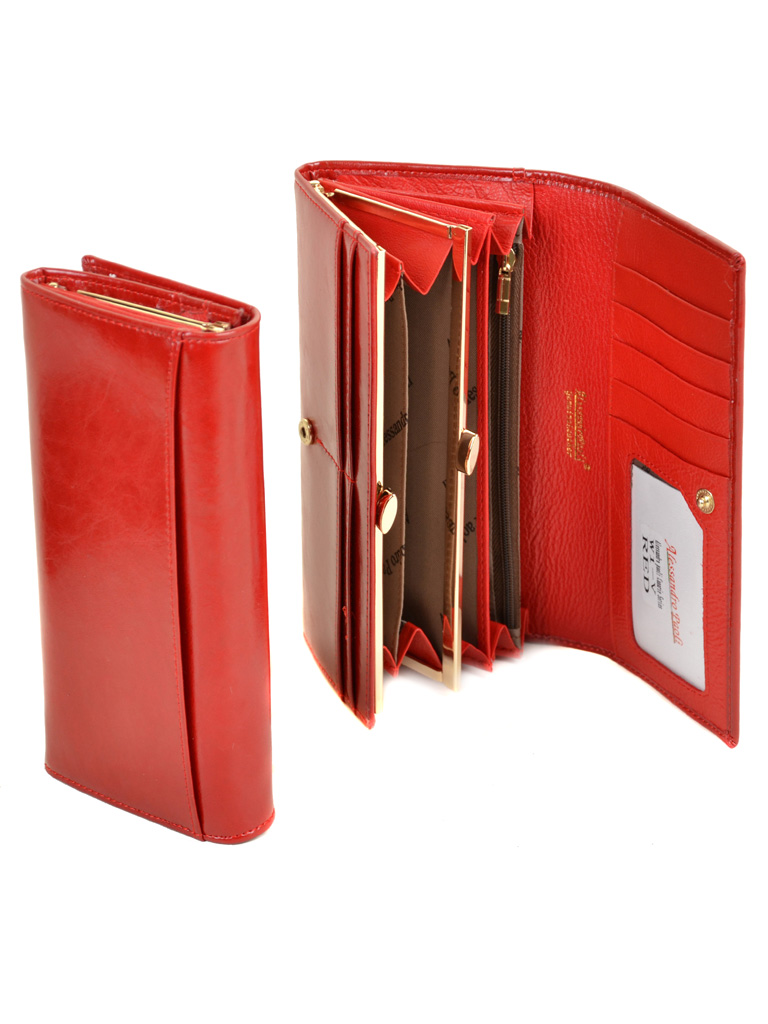 Кошелек Canarie кожа ALESSANDRO PAOLI W1-V red