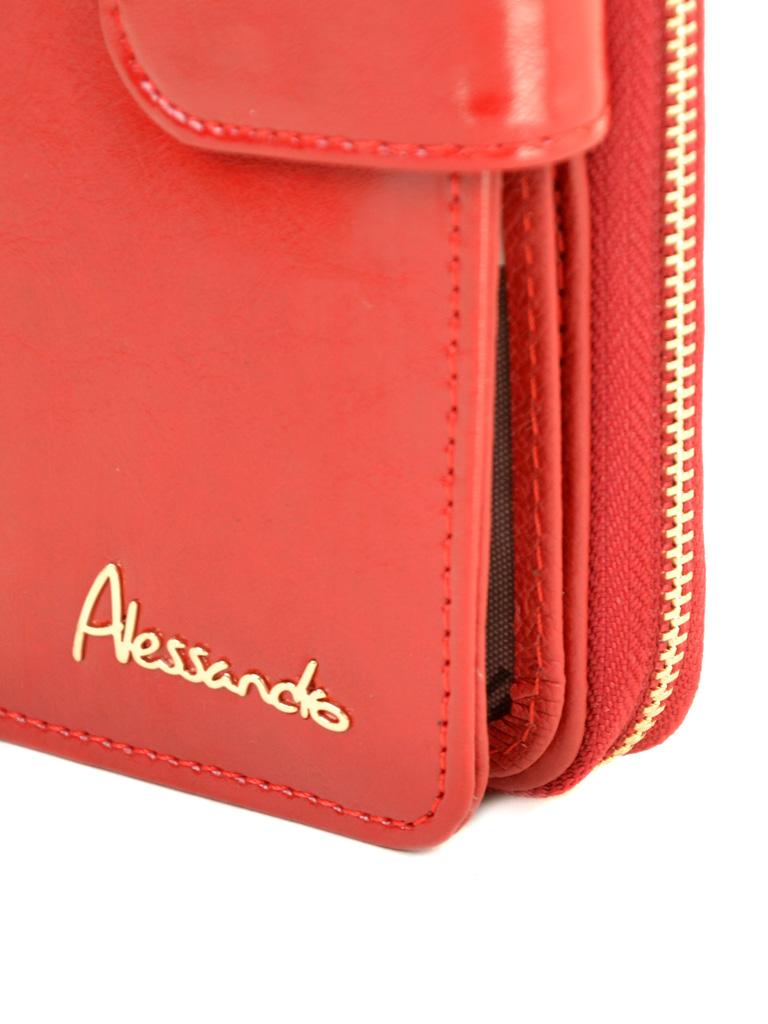 Кошелек Canarie кожа ALESSANDRO PAOLI W21-17 red