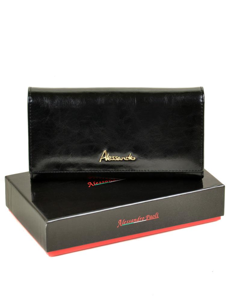 Кошелек Canarie кожа ALESSANDRO PAOLI W46 black