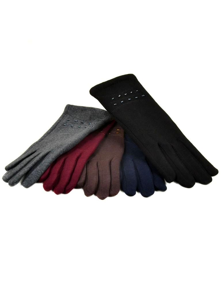 Перчатка Женская стрейч МариFashion F16 ПЛ мод-1 color mix
