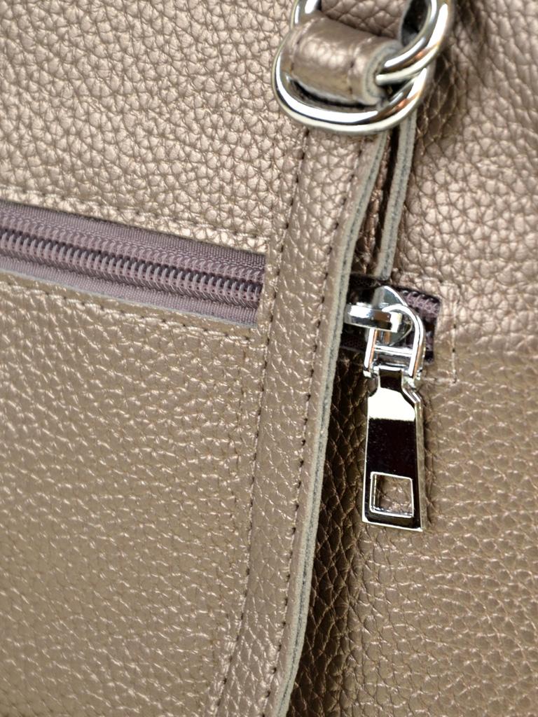 Сумка Женская Классическая иск-кожа ALEX RAI 7-01 10168-2 bronz