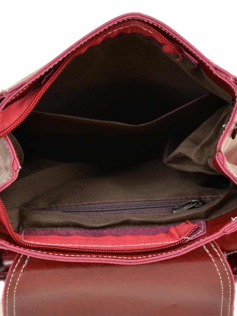 Сумка Женская Рюкзак иск-кожа ALEX RAI 7-01 53862 red - фото 5
