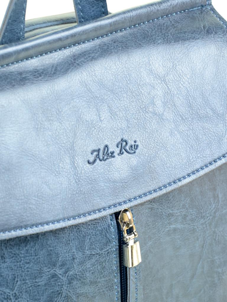Сумка Женская Рюкзак иск-кожа ALEX RAI 7-01 53863 blue - фото 3