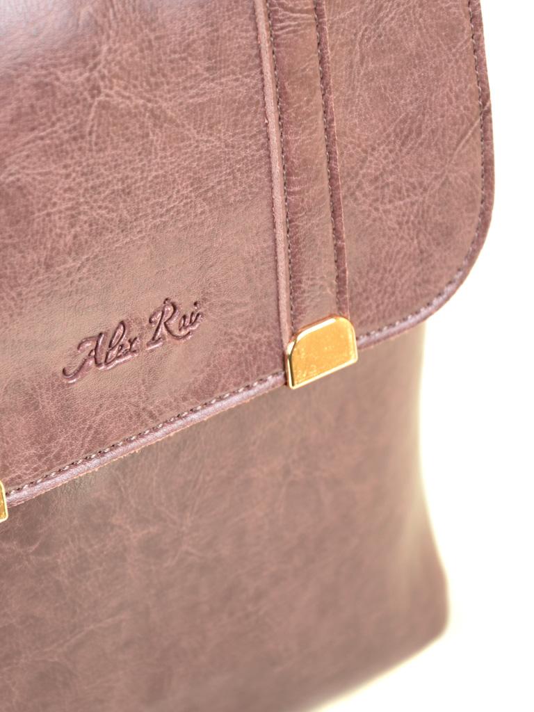 Сумка Женская Рюкзак иск-кожа ALEX RAI 7-01 9934 purple - фото 3