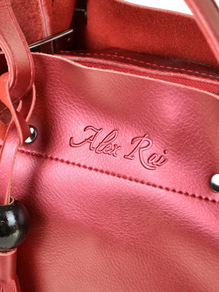 Сумка Женская Классическая кожа ALEX RAI 7-02 322 bright-red - фото 3