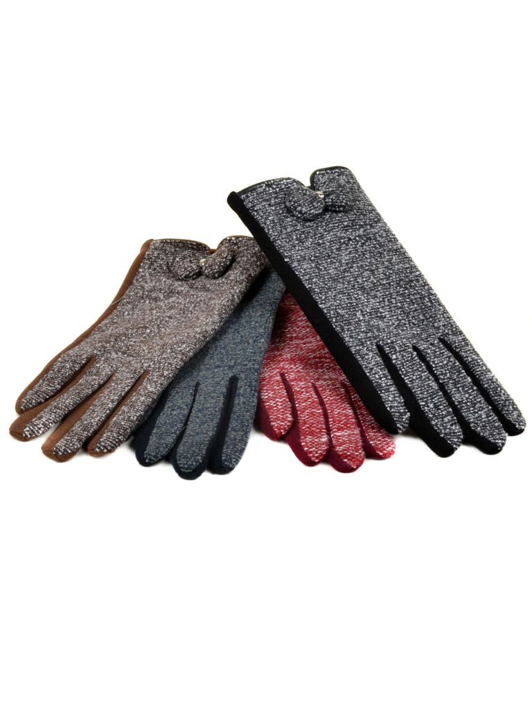 Перчатка Женская Шерсть-Стрейч МариFashion F16-2 ПЛ мод-4 color mix