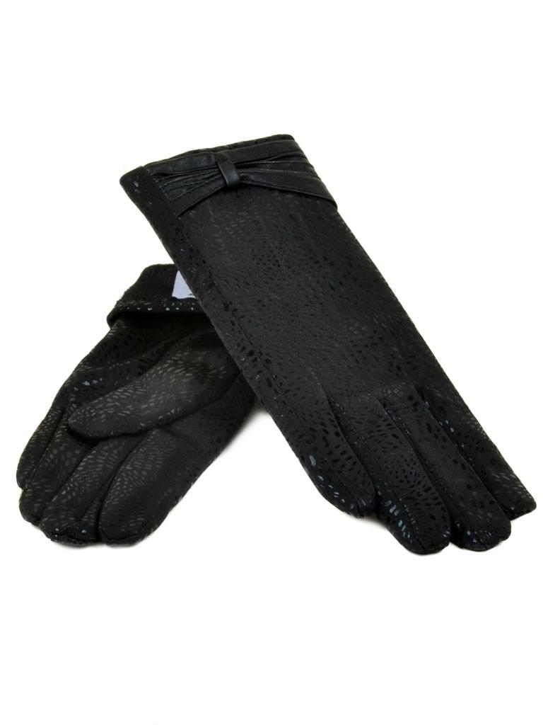 Перчатка Женская Шерсть-Стрейч МариFashion F16-4 ПЛ мод-4 black