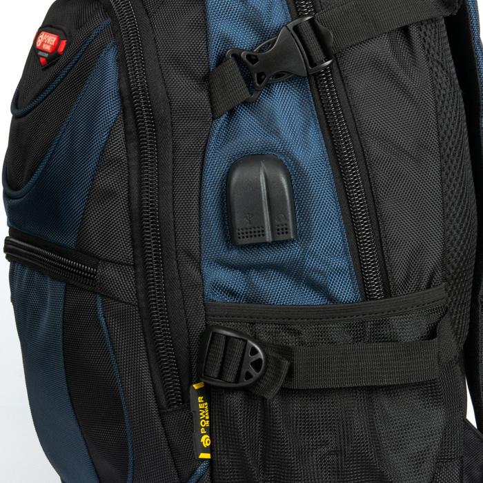 Рюкзак Городской нейлон Power In Eavas 9606 black-blue