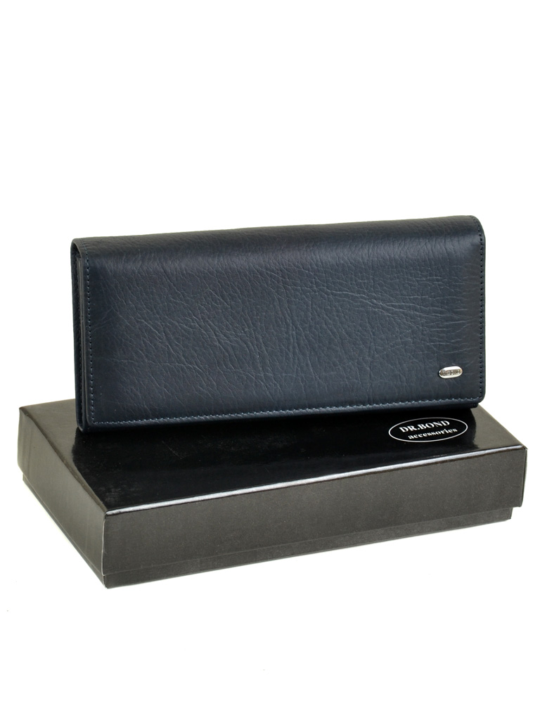 Кошелек Classik кожа DR. BOND W501-2 dark-blue