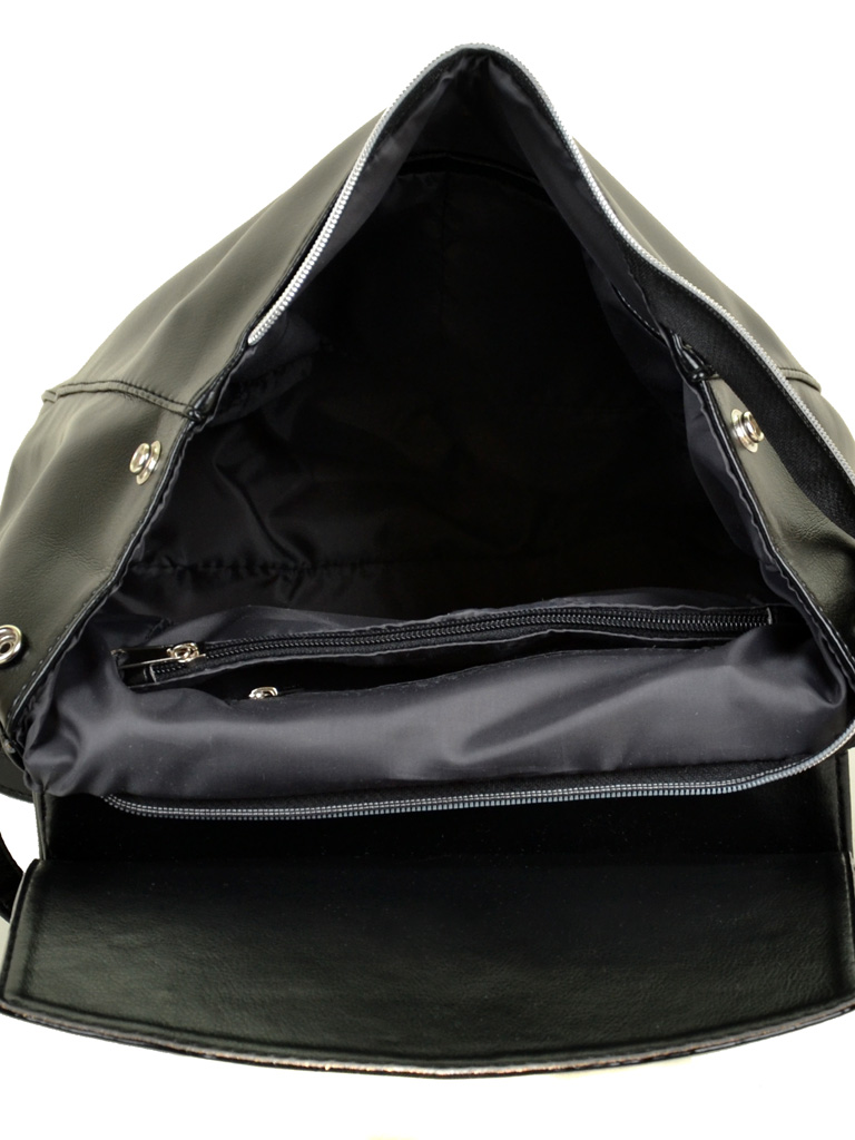 Сумка Женская Рюкзак иск-кожа М 173 Z-ка лак - фото 4