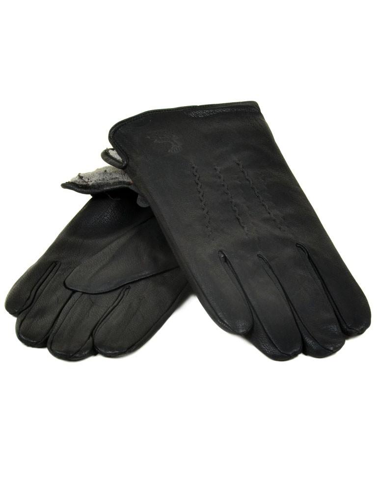 Перчатка Мужская иск-кожа-олень Flagman M25 Махра мод4 black