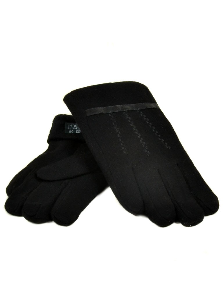 Перчатка Мужская кашемир monlolan M50 ПЛ мод-3 black