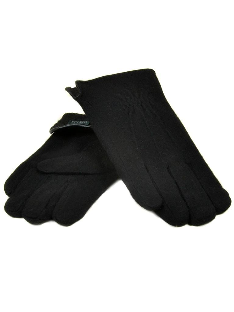 Перчатка Мужская кашемир monlolan M50 ПЛ мод-4 black