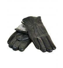 Перчатка Мужская кожа M24-18 мод1 black серый мех