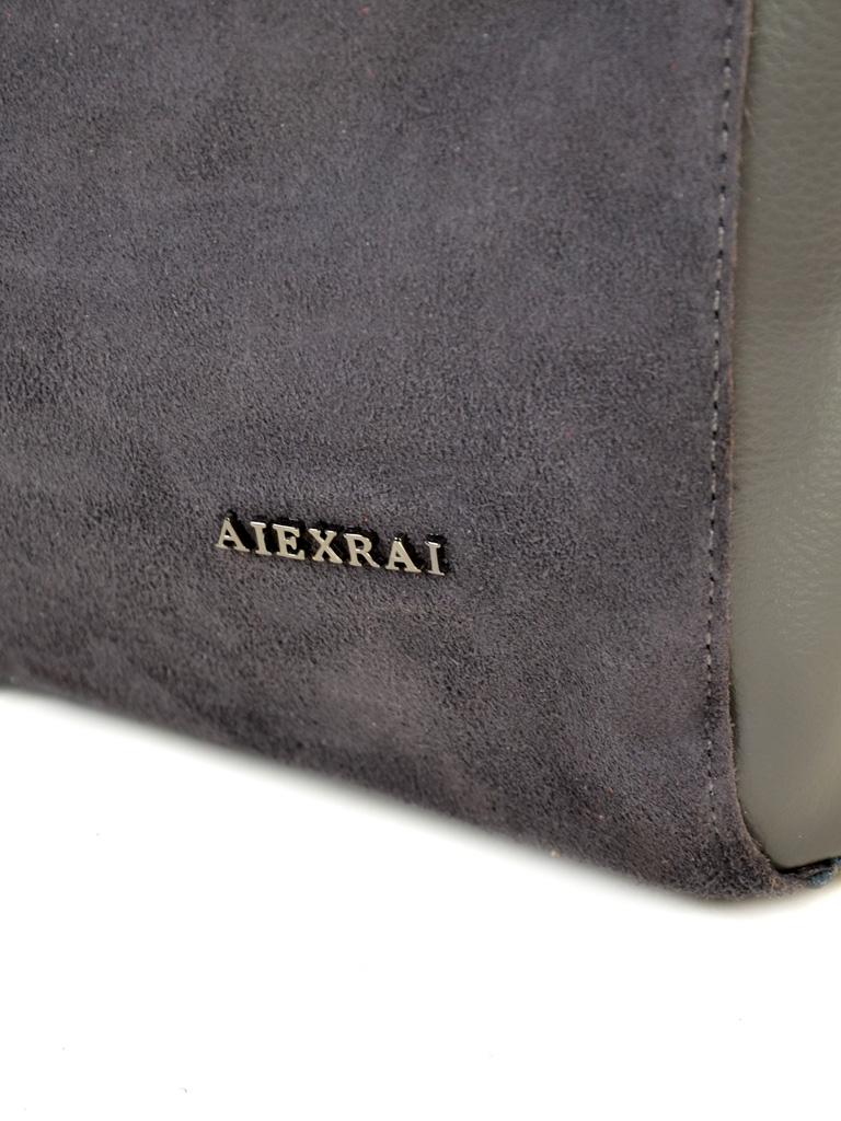 Сумка Женская Классическая кожа-замш ALEX RAI 10-01 8630-1 grey