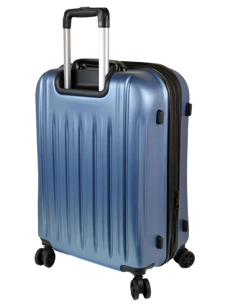 Дорожная Чемодан 21 ABS-пластик 8386 blue змейка