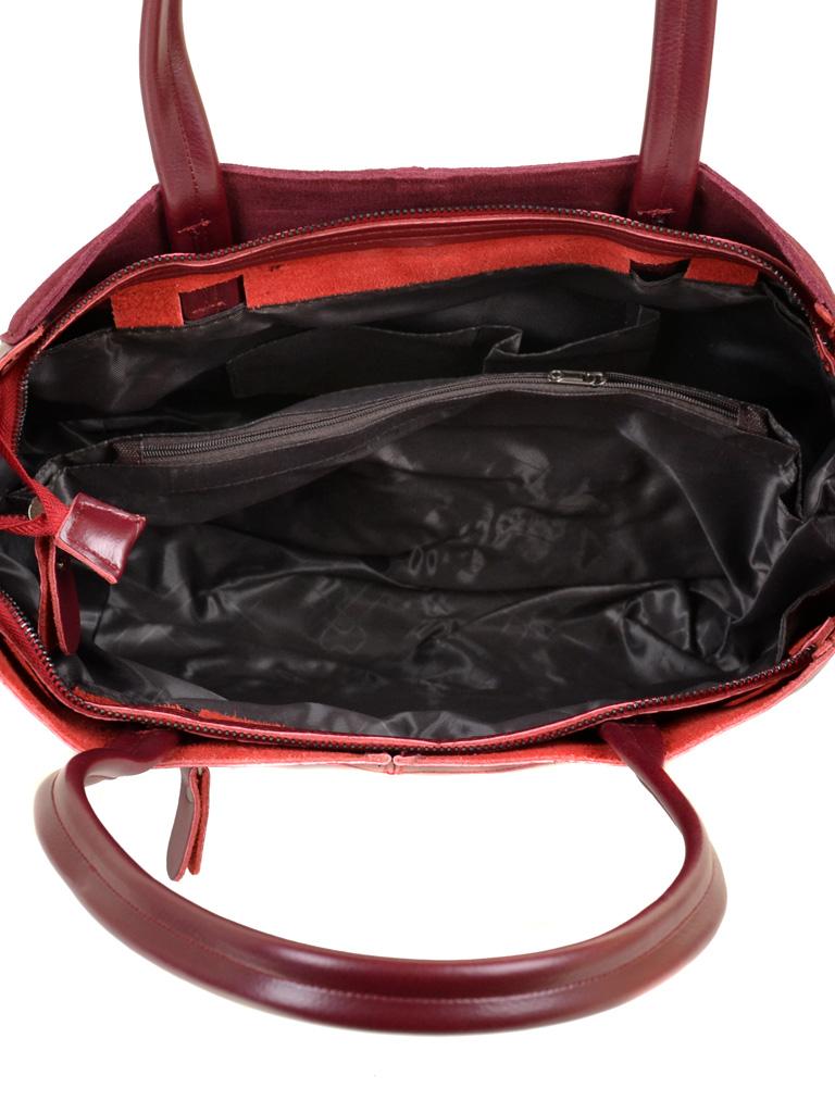 Сумка Женская Классическая кожа-замш ALEX RAI 10-01 8630-1 wine-red