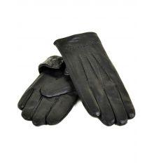 Перчатка Мужская кожа M24-18 мод4 black серый мех