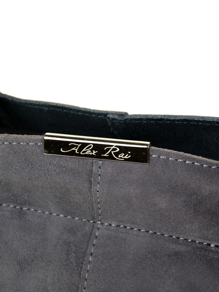 Сумка Женская Классическая кожа-замш ALEX RAI 10-01 8649-3 grey - фото 3