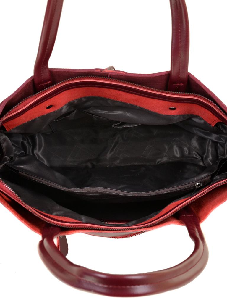 Сумка Женская Классическая кожа-замш ALEX RAI 10-01 8704-1 wine-red - фото 5