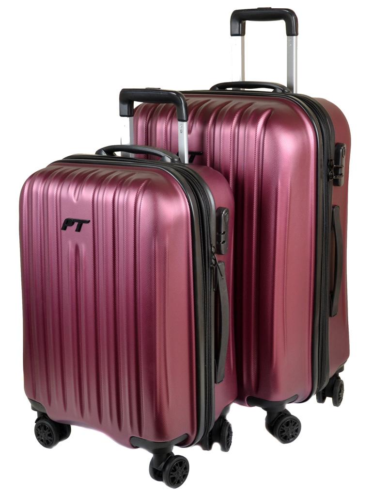 Дорожная Чемодан 21 ABS-пластик 8386 pink змейка