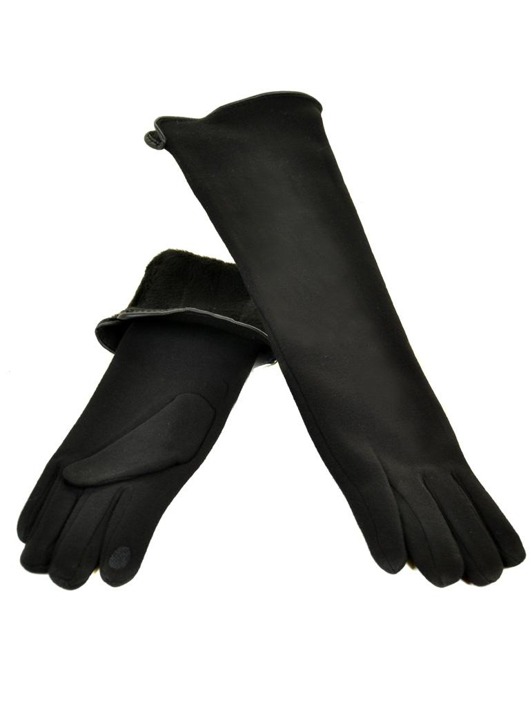Перчатка Женская стрейч F16/2/17 мод2 black сенсор