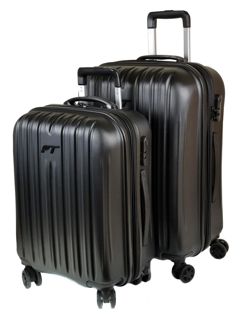 Дорожная Чемодан 21 ABS-пластик 8386 black змейка