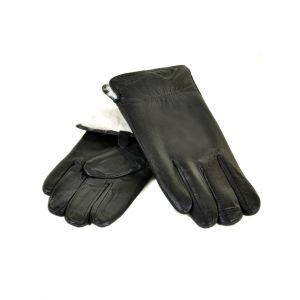 Перчатка Мужская кожа M23-18 мод2 black кролик Распродажа