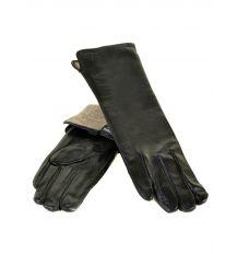 Перчатка Женская кожа F25-17/2 33см мод2 black шерсть